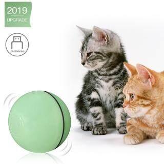 Đồ Chơi Mèo Tương Tác Chạy Điện, Bóng Lăn Cho Mèo Con Tập Thể Dục Đuổi Theo Đèn LED USB, Tự Động Lái Có Thể Sạc Lại thumbnail