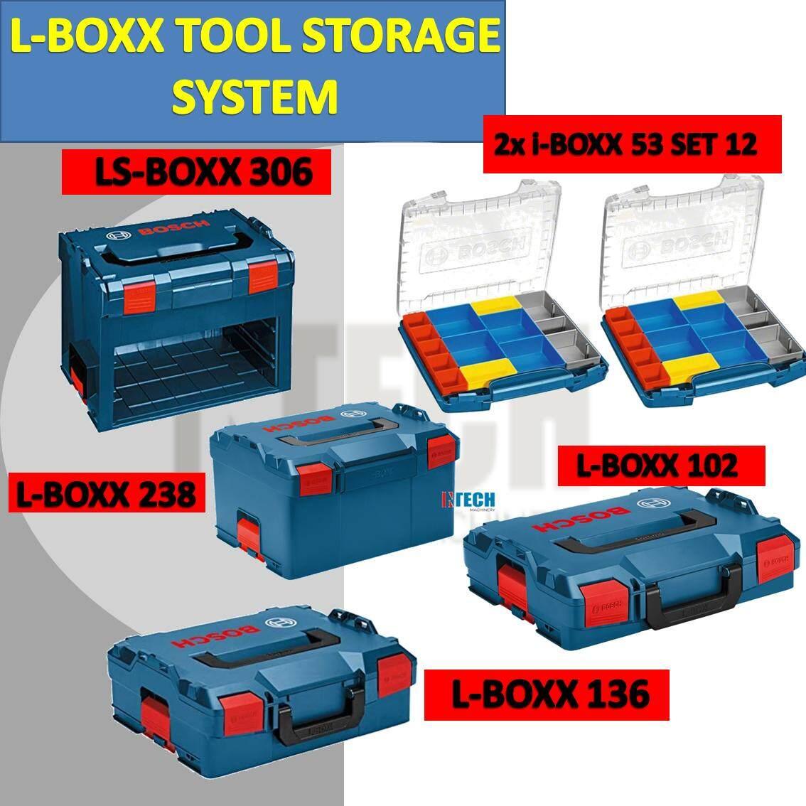 BOSCH L-BOXX TOOL STORAGE SYSTEM LS-BOXX 306 C/W 2 UNIT i-BOXX 53 SET12 +L-BOXX 238 + LBOXX 102 +LBOXX 136