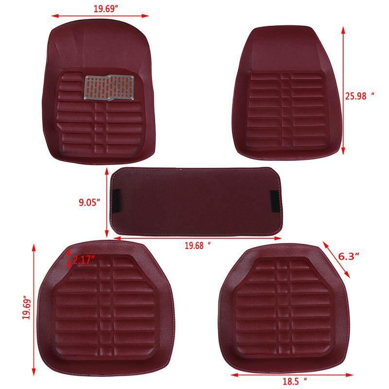 Red TDI Stripe Fully Tailored Car Mats 42