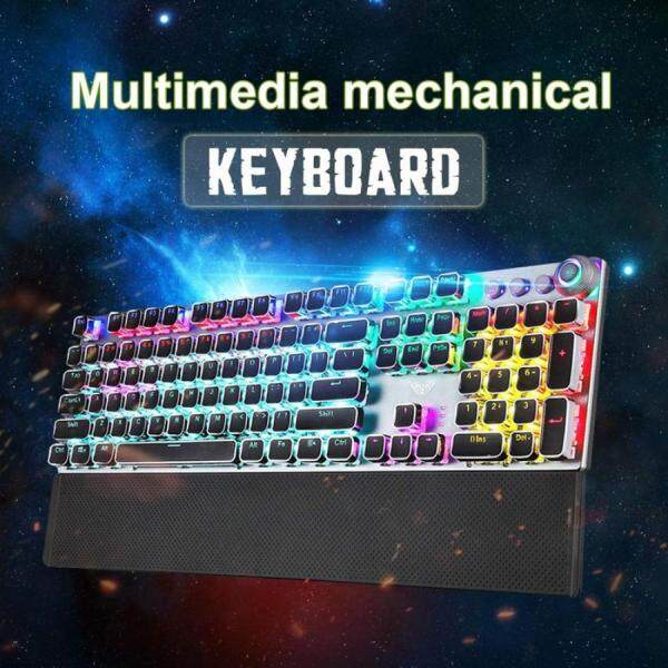AULA F2088 108 Keys Black Switch Wired USB Mechanical Gaming Keyboard Singapore
