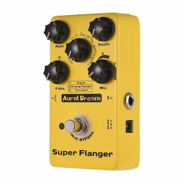 Super Flanger Guitar Effect Pedal 3 Flanger Modes Aluminum Alloy Shell True Bypass (Yellow) Malaysia