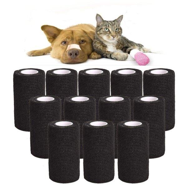 Băng Dính Pet Carer 12 Cái/Bộ Băng Dính Pet Vet Băng Dính Dính Cat Dog Băng Dính Tự Dính Đồ Dùng Sức Khỏe Cho Thú Cưng