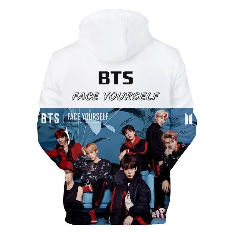 Unisex Bts Fans Hoodie 3d Print Portrait Pullover Hoodie K-Pop Bts 3d Hooded Sweatshirt Long Sleeve Hoodie Coat Tops By Bloomhd.