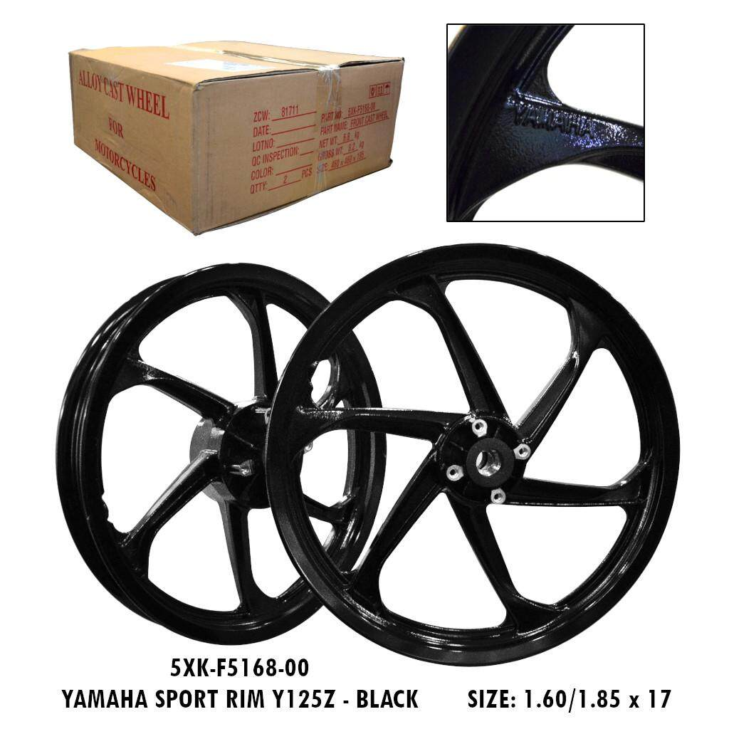 100% Original YAMAHA Sport Rim Y125Z Black (1.60/1.85 x 17) 5XK-F5168-00