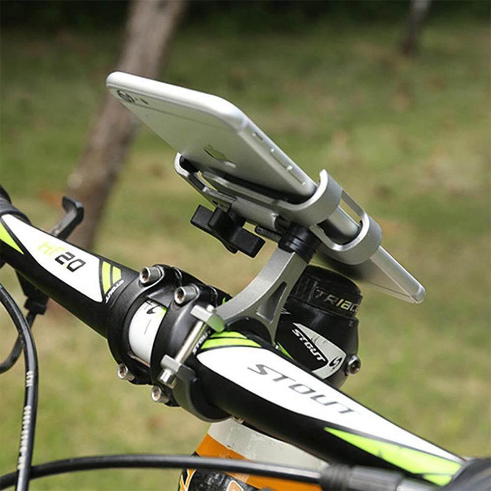 """Aluminium Aloi Sepeda Tempat Ponsel 3.5-6.5 """"Telepon Seluler Pemegang Bantalan Gps Sepeda Ponsel"""