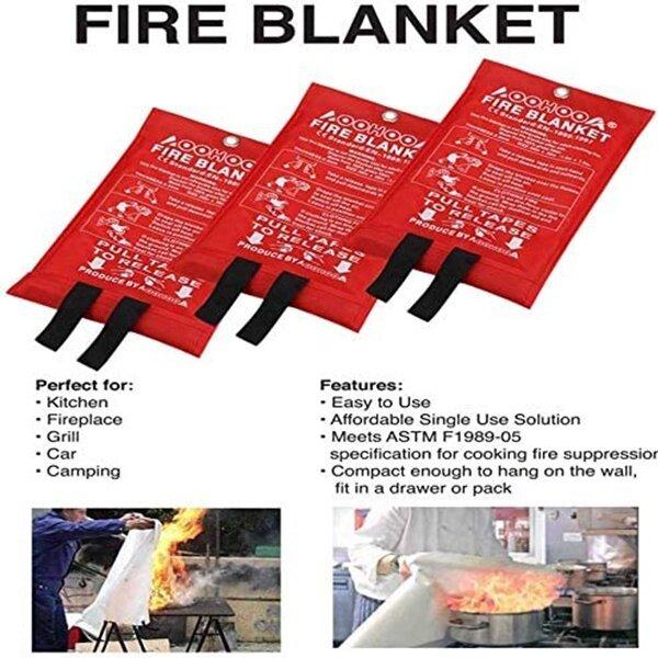 #fire blanket# ⊿Home Fire Blanket Fiberglass Safety Fire Fighting Prevention ( 10m x 10m  12m x 12m  18m x 18m )♣