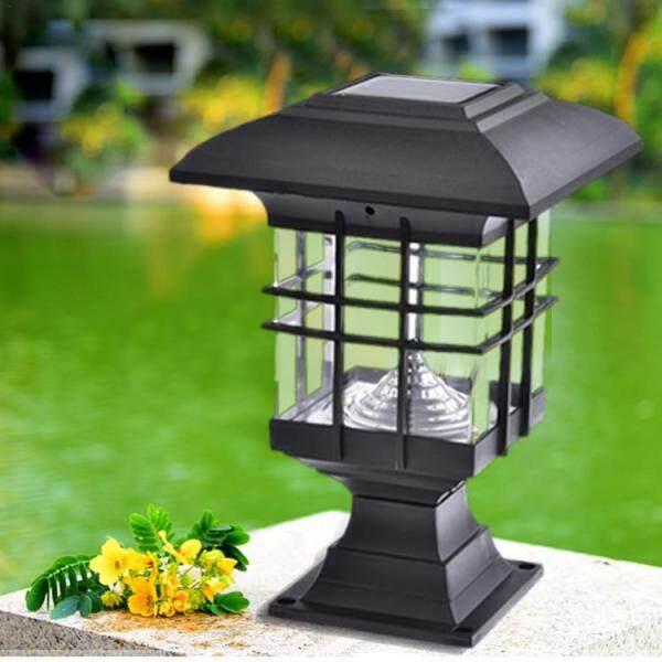 Đèn Trụ Cột Năng Lượng Mặt Trời Cảnh Quan Sân Vườn Đèn LED Chiếu Sáng Ngoài Trời Không Thấm Nước Công Viên Đèn Trang Trí