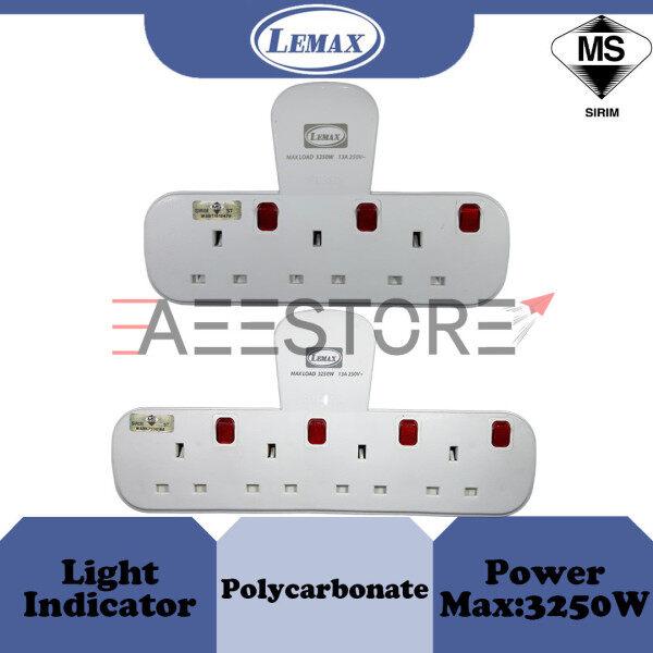 ( SIRIM ) LMX / Lemax 3 Socket / 4 Socket T-Adaptor With Neon TA 313 / TA 413