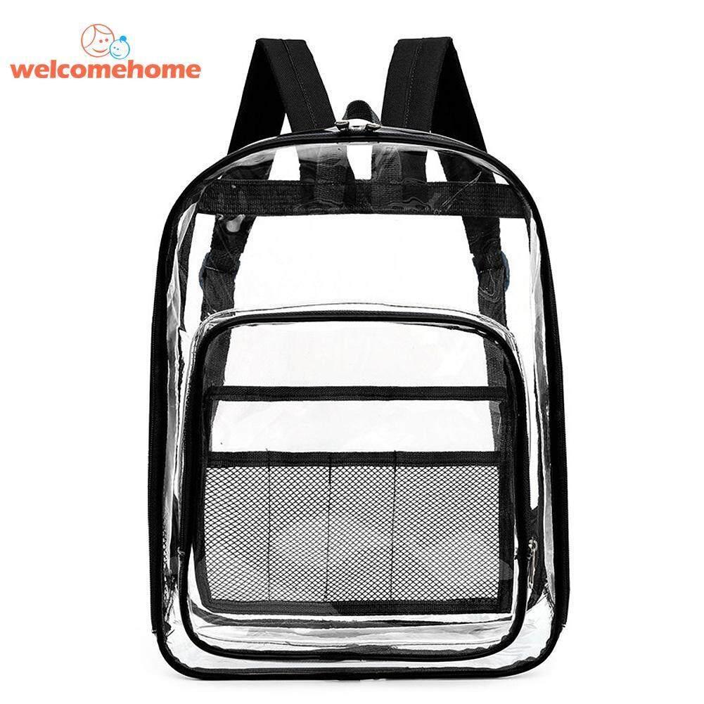 【welcomehome】Mommybag Waterproof Transparent Travel Backpacks PVC Women Large Capacity Knapsack