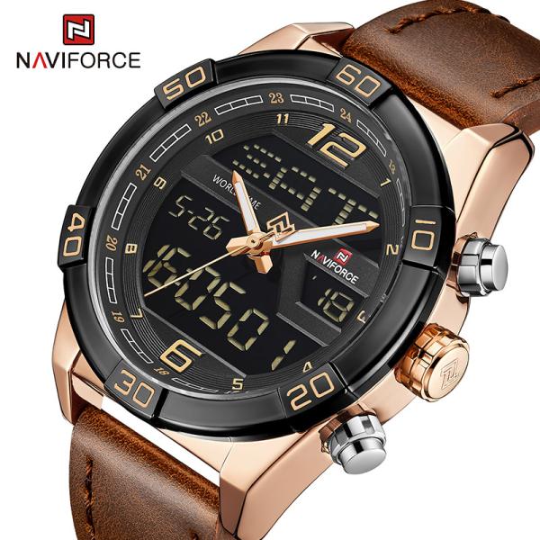 NAVIFORCE 9128  Men Digital LCD Fashion Sports Watches Quartz Wristwatch Waterproof Malaysia