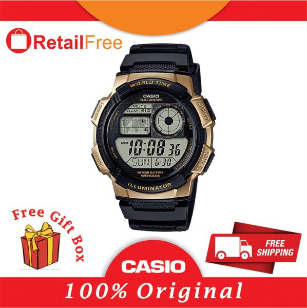 CASIO AE-1000W-1A3 WORLD TIME DIGITAL SPORTS WATCH Malaysia