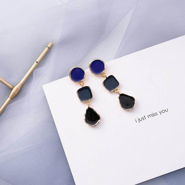 Mengjiqiao 2019 Penjualan Terlaris 30 Gaya Warna Biru Fashion Elegan Geometris Anting-anting Menjuntai untuk Wanita Lucu Pendientes Mujer Perhiasan