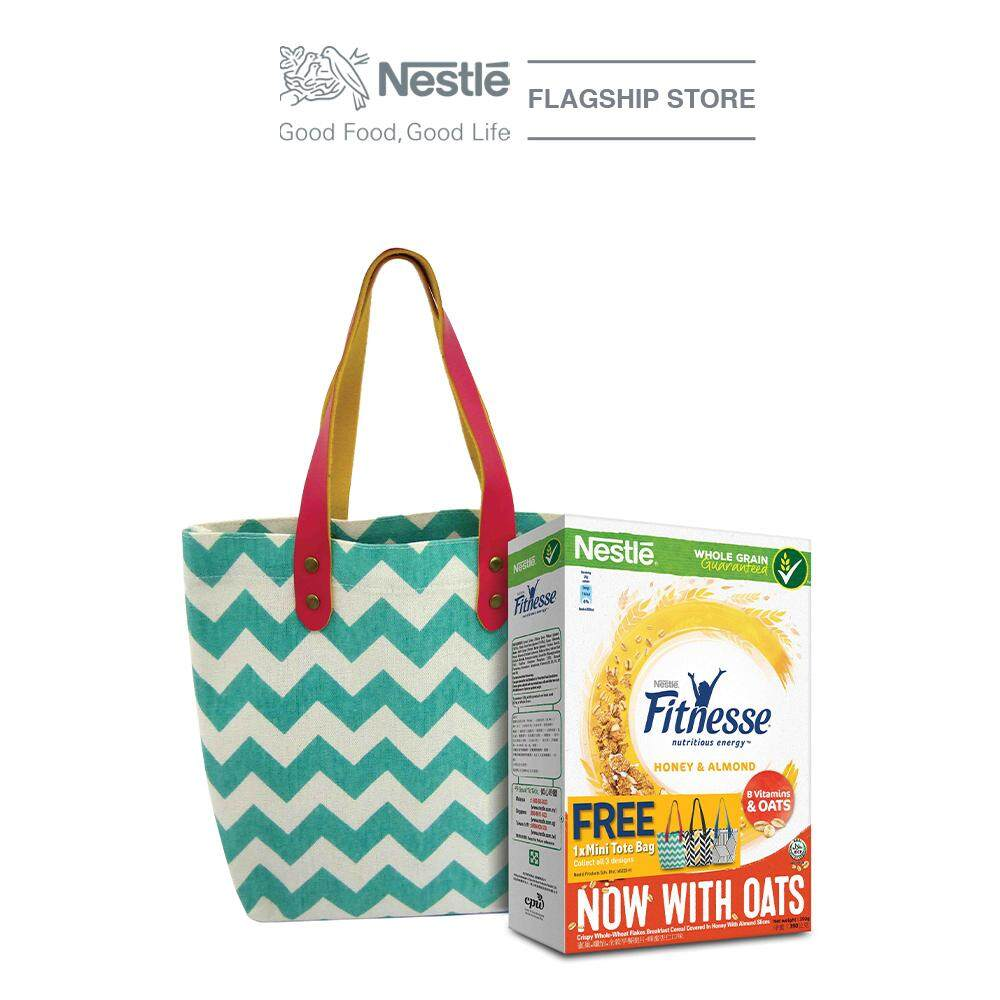 Nestle Fitnesse Honey and Almond Cereal 390g, Free Tote Bag image on snachetto.com