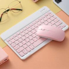 Bàn Phím Bluetooth Không Dây Di Động, Bộ Chuột Bàn Phím Bluetooth Thông Dụng 7 Inch Cho IPad Samsung Xiaomi Android Tablet
