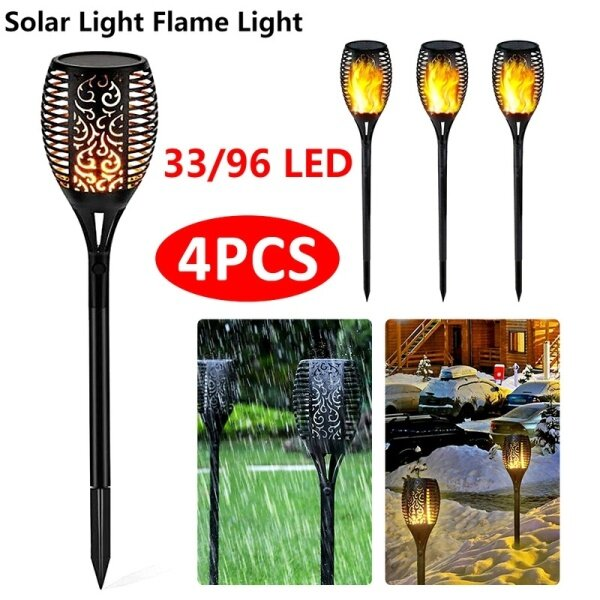 33/96 LED IP65 Waterproof Solar Garden Light Flickering LED Landscape Light Lawn Lamp Path Lighting Solar Outdoor Light