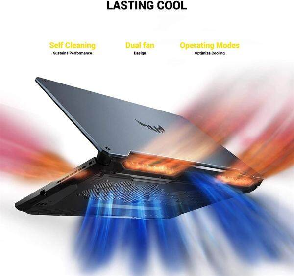 ASUS TUF Gaming VR Ready Laptop, 15.6 IPS FHD, AMD Ryzen 7 4800H 8-Core up to 4.20 GHz, NVIDIA RTX 2060, 16GB RAM, 512GB SSD+1TB HDD, RGB KB, RJ-45 LAN, Mytrix HDMI 2.0 Cable, Win 10 Malaysia