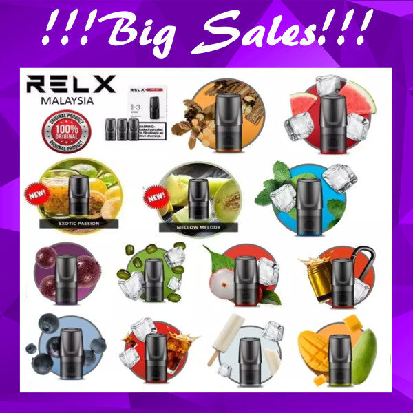 Total 22 Flavor READY STOCK ORIGINAL RELX Refill New Flavors Malaysia
