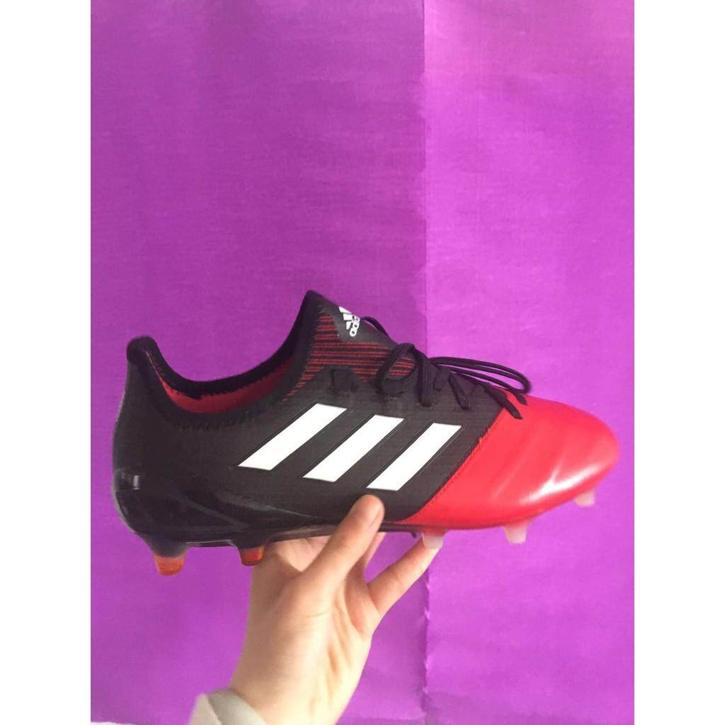 7139e8cd424 adidas ACE 17.1 Leather FG red black mens sport low soccer football shoes 39 -45
