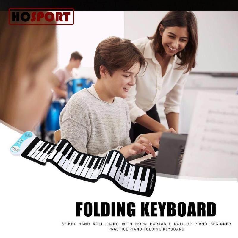 Hosport 37 Kunci Fleksibel Piano Gulung Silikon Portabel Elektronik Tuts Piano Lembut Tanpa Baterai Digulung Tangan Alat Musik Indonesia