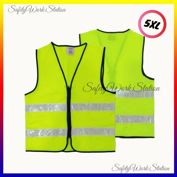 SAFETY VEST LIME GREEN WITH 2 REFLECTIVE (READY STOCK)