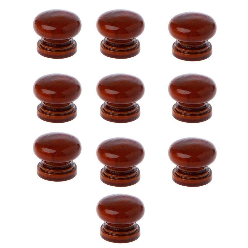 10Pcs/Lot Wood Knobs Wooden Cabinet Drawer Handles Wardrobe Door Pull Handle For Furniture Cabinets Wood Handles With Screws