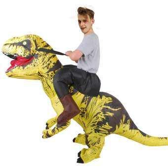 น่ารักชุดพองลมผู้ใหญ่เสื้อผ้าลายตลกฮาโลวีน PARTY วันเกิดคอสเพลย์เดิน Tyrannosaurus Rex ชุด Inflatable ชุดสัตว์ UP ชุด