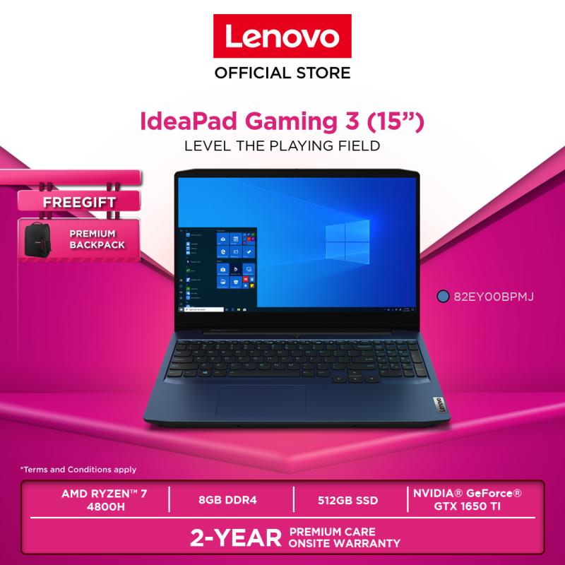 Lenovo IdeaPad Gaming 3 15ARH05 82EY00BPMJ 15.6 RYZEN 7 8GB 512GBSSD W10H GTX_1650ti 2YRPREM BACKPACK Malaysia