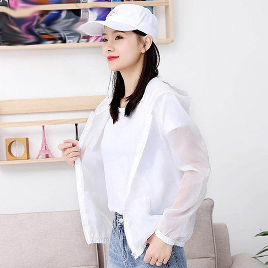 70cc6725772b2 Top Deals Zipper Solid Color Women Long Sleeve Cardigan Summer Loose Style  Ladies Travel Sunscreen Outwear Coats Anti-UV Breathable Sun protection ...