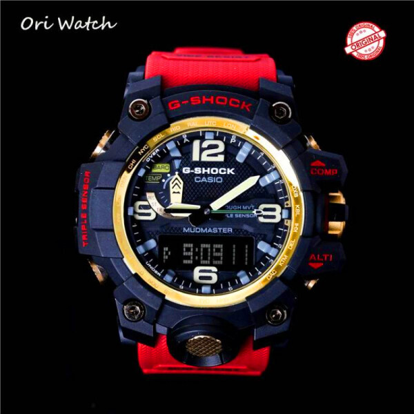 (free shipping) Original G Shock GWG-1000-1A MUDMASTER mens series analog digital Watch sports waterproof shockproof Watches for men double belt time(Red)GWG-1000/GWG1000 Malaysia