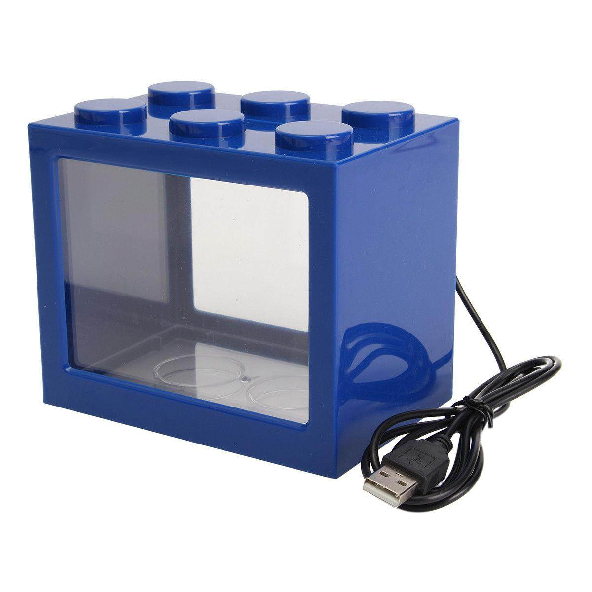 Mini USB LED Lighting Clear Fish Tank Ornament Aquarium Office Desktop Décor