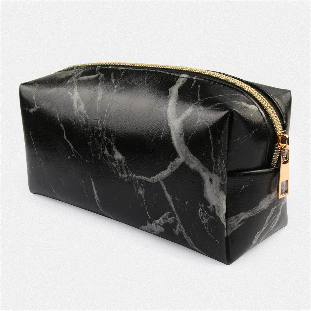 Pencil Case Abstract Marbling Pattern Canvas Big School Stationery Holder Cosmetic Bag with Zip Art Colored Pen Pouch
