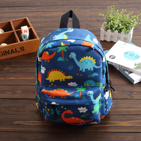 Childrens schoolbag 1-3-6-12 years old cartoon rucksack dinosaur kindergarten pupils small schoolbag male