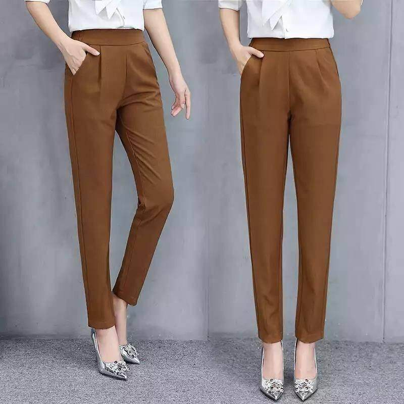 Pants & Capris Women's Clothing Hot Selling 2019 New Women Elastic Waist Full Length Trousers Casual Patchwork Pockets Wide Leg Summer Pants Plus Size 2 Colors Sale Overall Discount 50-70%