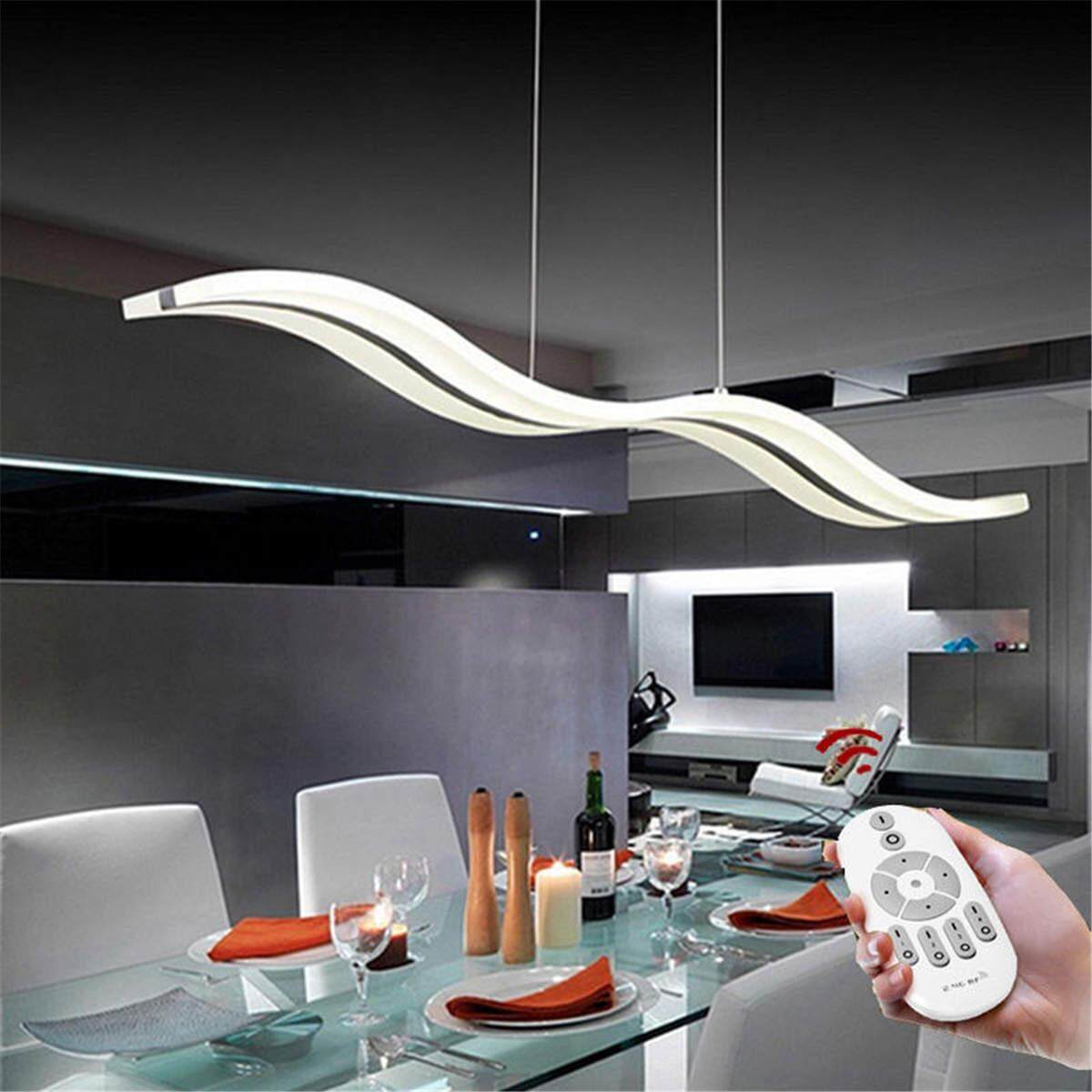 Modern Acrylic LED Wave Chandelier S shape Pendant Lights Ceiling Lamp 38W
