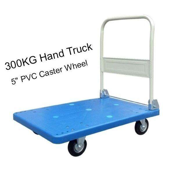 300KG PVC Platform Hand Truck Trolley With PVC Caster