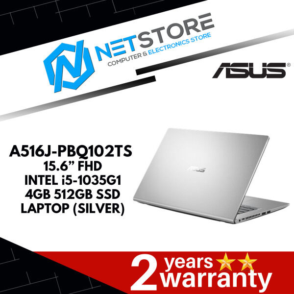 ASUS A516J-PBQ102TS 15.6 HD LAPTOP (TRANSPARENT SILVER) - i5-1035G1, 4GB, 512GB SSD, NVIDIA GeForce MX330 Malaysia