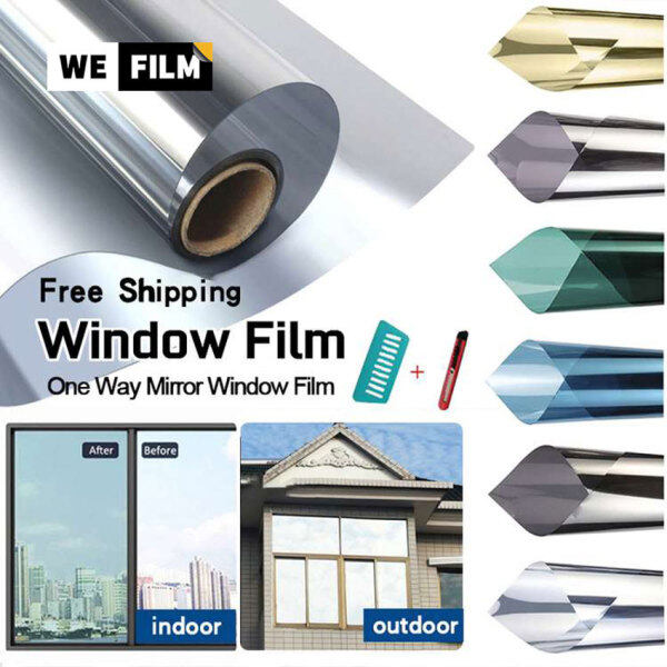 Window Film For House【Malaysia Ready Stock】305060708090100152cm One Way Mirror Daytime Privacy Window Sticker Heat Control Anti UV Window Tint for Home and Office