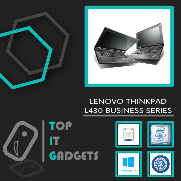 LENOVO THINKPAD L430 BUSINESS SUPERDUTY SERIES [ INTEL CORE I7 / 8GB DDR3 RAM / 128GB SSD STORAGE / 14 INCH / WINDOW 10 PRO / 6 MONTHS WARRANTY / LAPTOP ] Malaysia