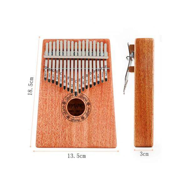 17Keys Wooden Kalimba Finger Thumb Piano Education Musical Instrument Toy Gifts - Malaysia