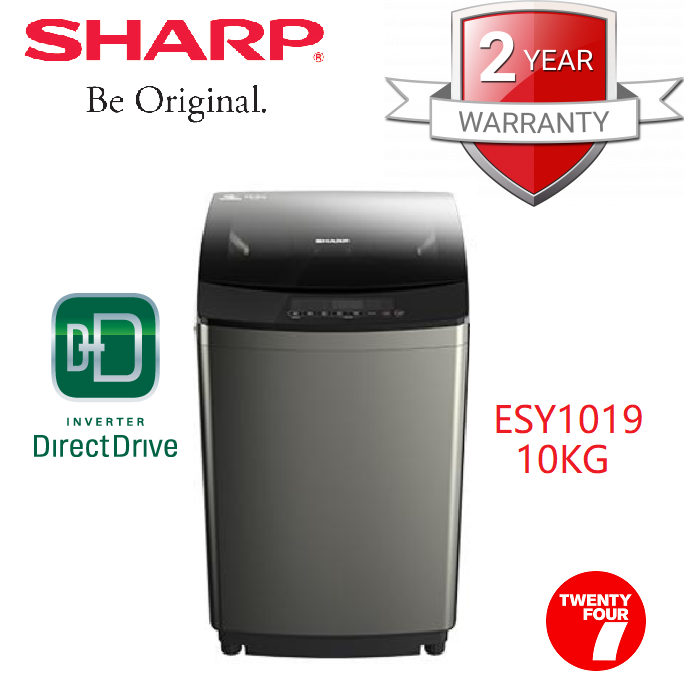 Sharp ESY1019 Fully Auto DD Inverter Washing Machine 10KG Mesin Basuh