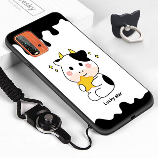 ZeroQiQi Dành Cho Ốp Xiaomi Redmi 9T (Nhẫn Đeo Tay + Dây Buộc) Ốp Điện Thoại Di Động Bò Sữa Trừu Tượng Hoạt Hình Dễ Thương Ốp Lưng Bảo Vệ Điện Thoại TPU Cao Su Silicon Mềm Chống Sốc Cho Bò Sữa thumbnail