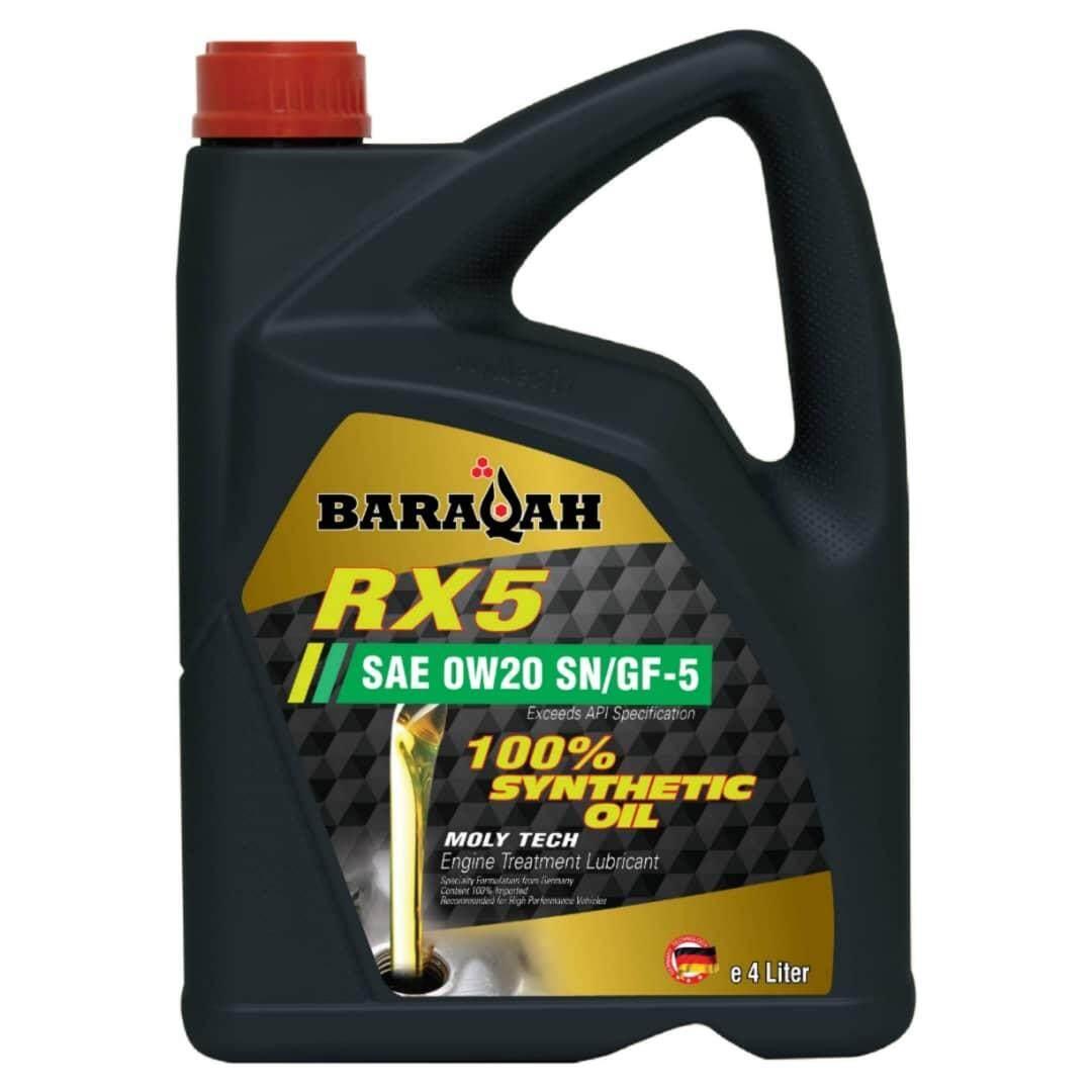 BARAQAH LUBE RX5 0W20 100% SYNTHETIC (4L)