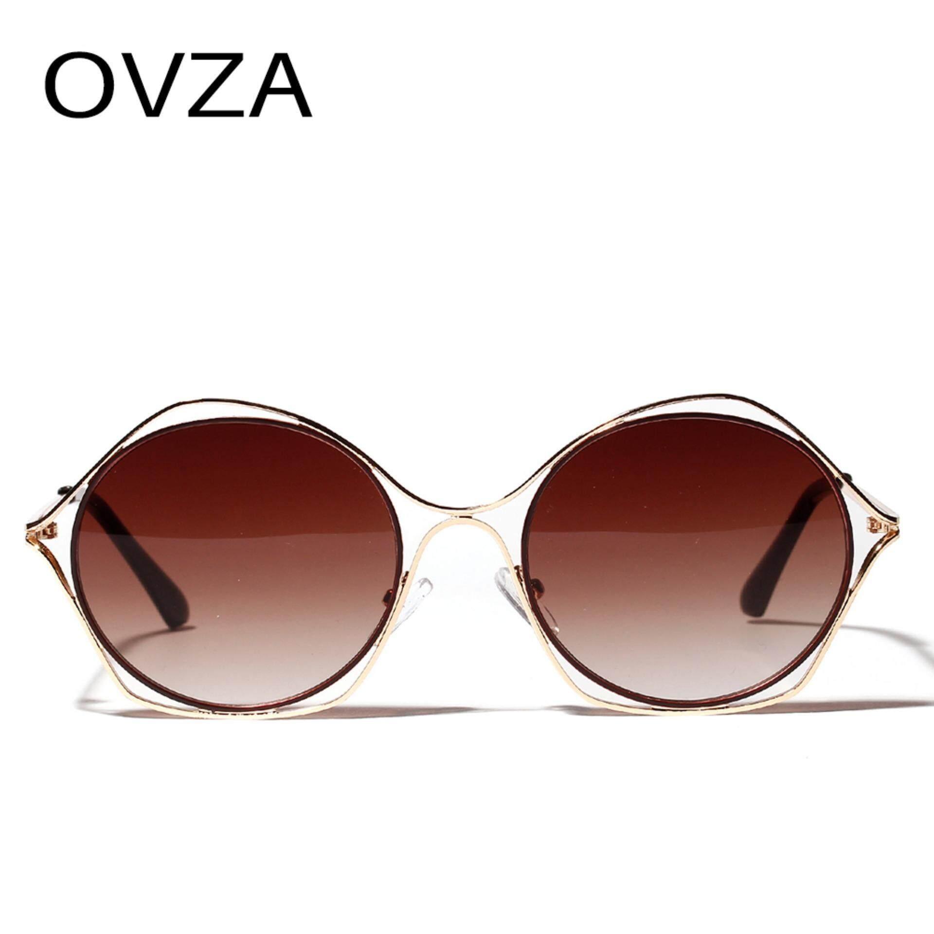 b6cfa4cc98b8 OVZA Brand Designer Luxury Sunglasses for Women Openwork Fashion Cat Eye  Sunglasses High Quality 2019 New