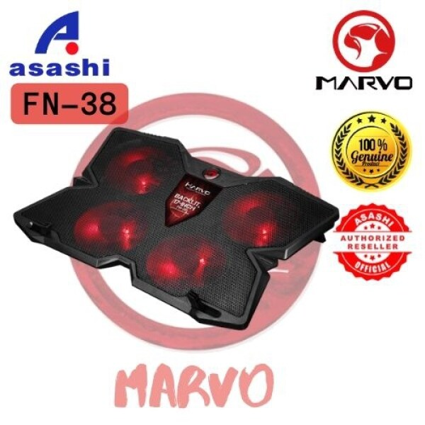 Marvo FN-38RD Notebook Cooling Pad Red LED Malaysia