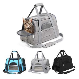 [Miss Lan] Túi Đựng Mèo Túi Đựng Mèo Di Động Ba Lô Thoáng Khí Hở Đầu Túi Vận Chuyển Mèo Có Thể Gấp Mở Có Lưới Cho Chó Và Mèo thumbnail