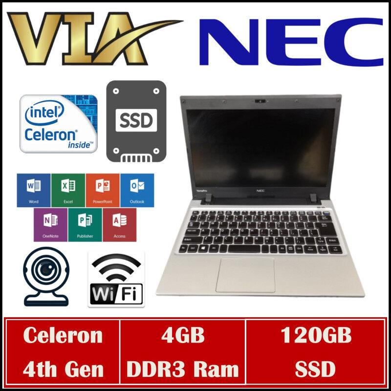 【SALES】NEC VERSAPOR VC-H~CELERON 4th Gen~4GB RAM~120GB SSD~Lightweight Malaysia