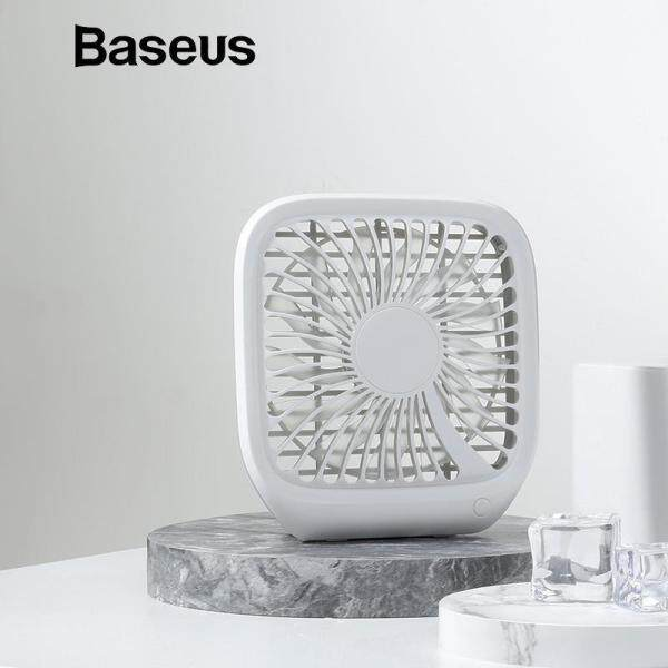 Baseus 3-Speed USB Cooling Fan Silent Small Fan For Car Backseats Air Conditioner Mini USB Fan For Office Gadgets Desktop Desk