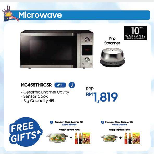 Convection Microwave Oven with Big Capacity, 45L (MC455THRCSR)