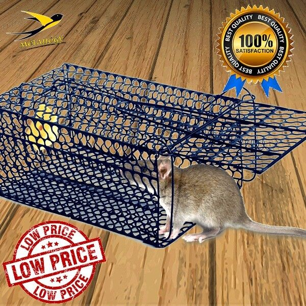 Metallogy Rat Mouse Trap Cage / Snap Mouse Animal Catcher / Rumah Perangkap Tikus L27.95 Cm X W17.80Cm X H12.70 Cm