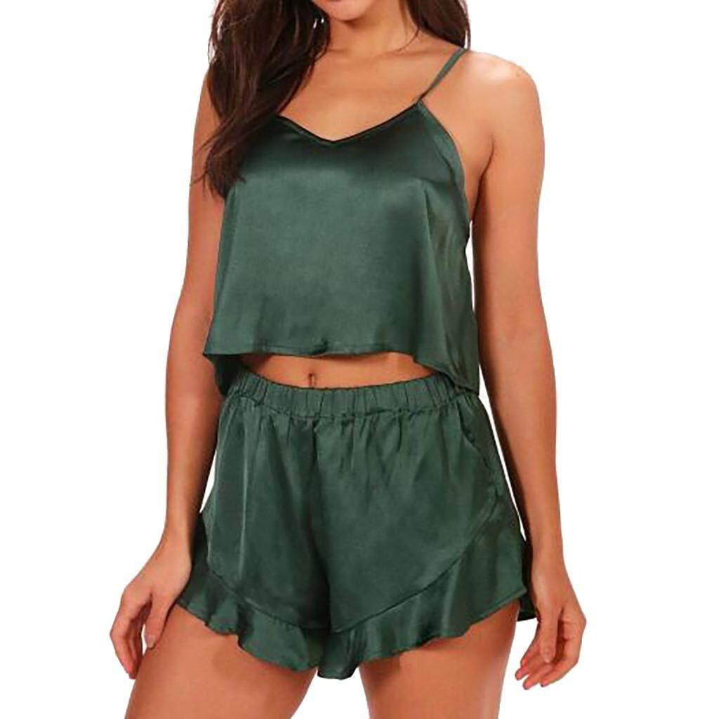 (audestore)_sexy Ladies Lingerie Sleepwear Women Babydoll Satin Underwear Night Dress Free Shipping By Audestore.